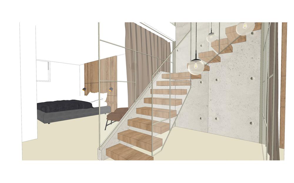 3D afbeelding van het Admiraal appartement – 5
