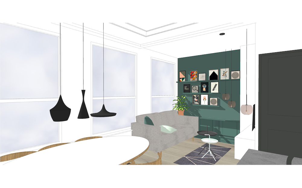 3D afbeelding van het Oldenbarneveldt appartement – 2