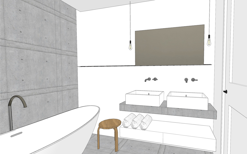 3D visual of the Oldenbarneveldt apartment – 1
