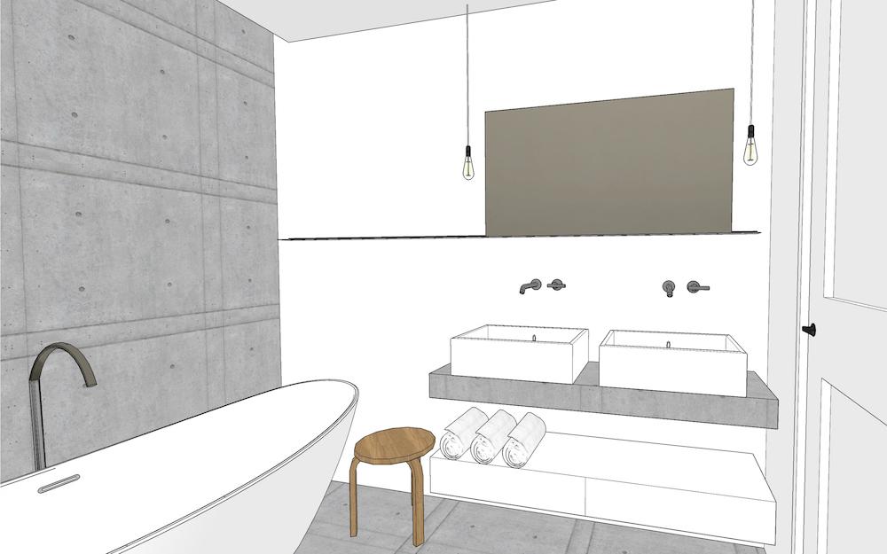 3D afbeelding van het Oldenbarneveldt appartement – 1