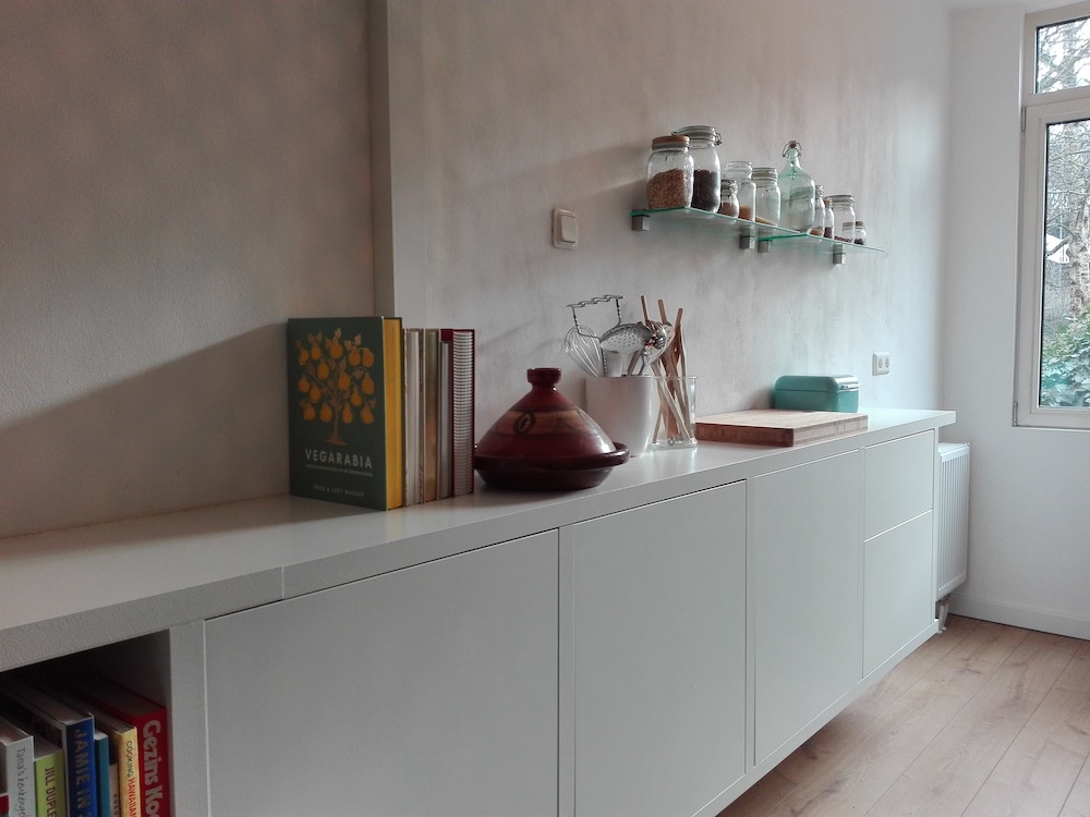 Photo of custom-built floating wall unit - kitchen