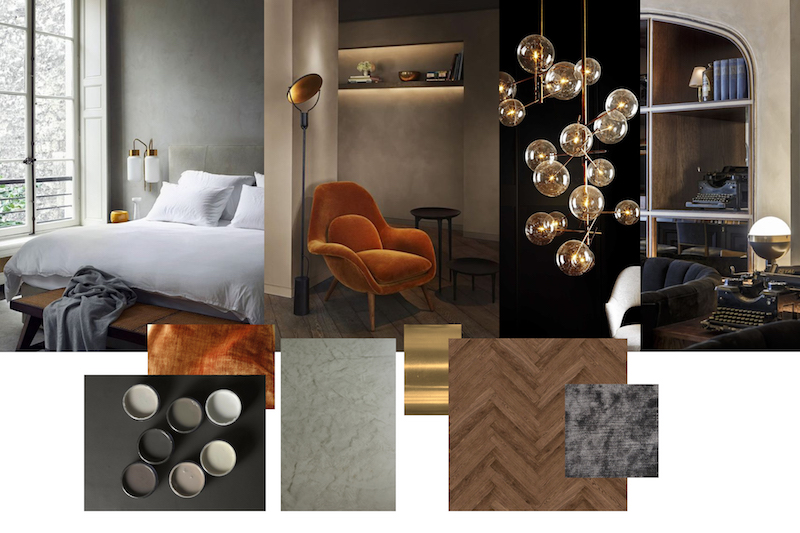 Example of a mood board created by HAM design